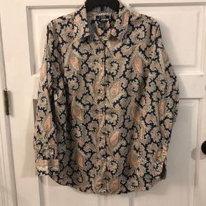 Women's Chaps No iron button down size 1X